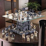 Black Tower Dragon Chess Set Board Castle