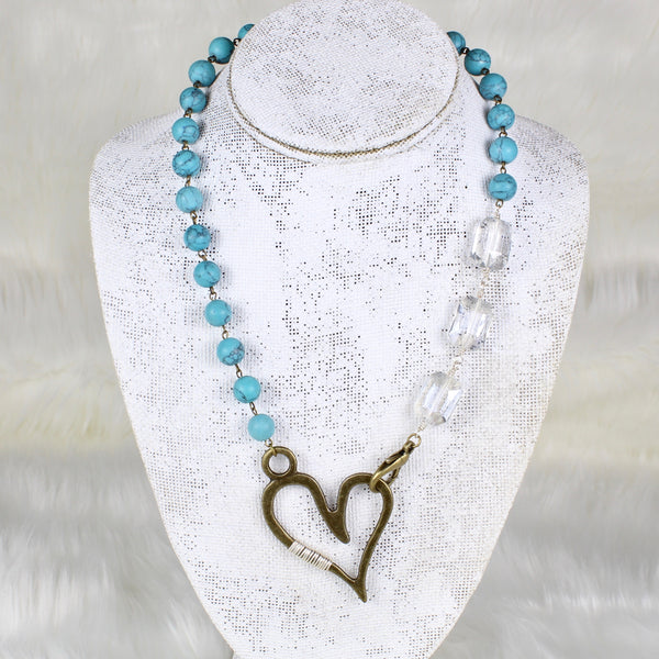 Beaded Heart Necklace-necklace-Jewelry Gypsy Designs