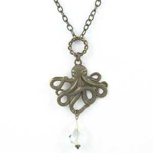 Octopus Necklace-Pendant Necklaces-Jewelry Gypsy Designs