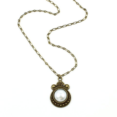 Simple Pearl Necklace-Charm Necklaces-Jewelry Gypsy Designs
