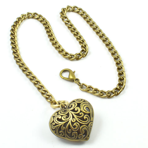 Puffy Heart Necklace-Pendant Necklaces-Jewelry Gypsy Designs