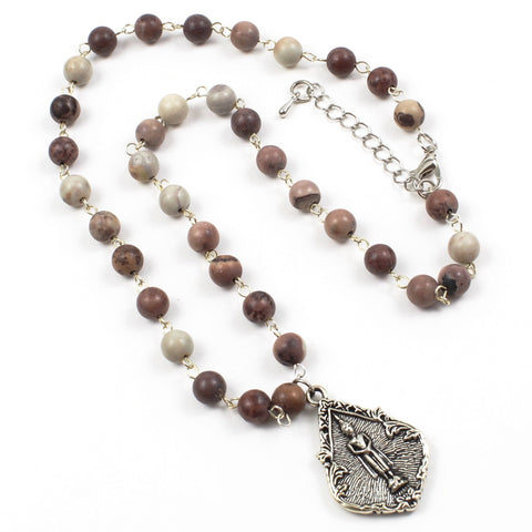 Beaded buddha Necklace-Beaded Necklaces-Jewelry Gypsy Designs