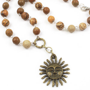 Sun Necklace-Pendant Necklaces-Jewelry Gypsy Designs