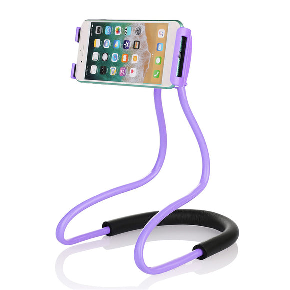 Universal Hanging Neck Long Arm 360 Degree Rotation Lazy Phone Holder for iPhone Xiaomi BUME
