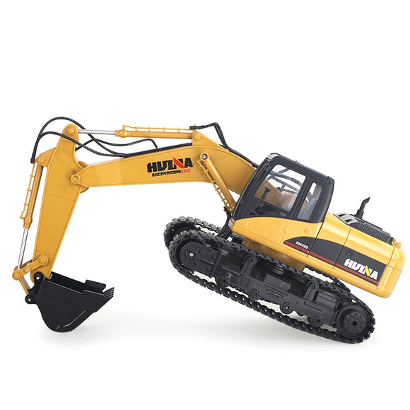 HUINA 1550 1:14 2.4GHz 15CH RC Alloy Excavator RTR with Independent Arms Programming Auto Demonstration Function BUME