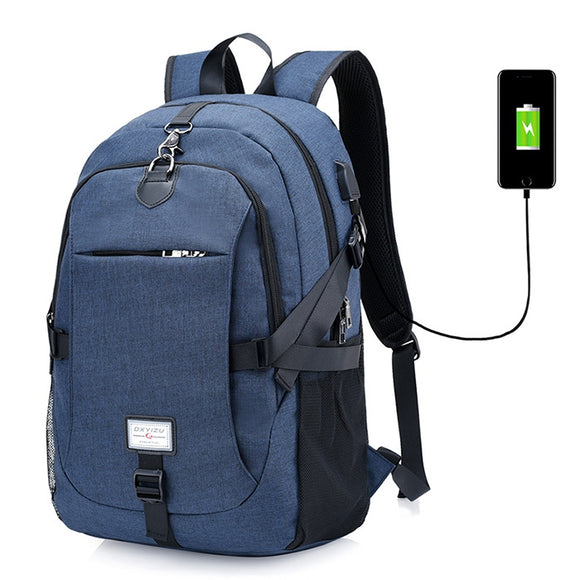 Casual Durable Canvas Backpack with USB Port for Men BUME