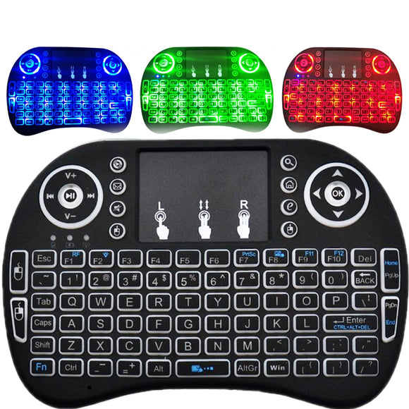 2.4GHz Wireless QWERTY Keyboard with Touchpad Mouse - ENGLISH BLACK BUME
