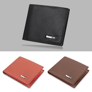 SMARTLB Smart Wallet Finder GPS Men Leather Card Holder BUME