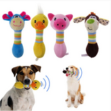 Cute Pet Toys Chew Squeaker Animals Plush Puppy For Dogs Cat - bumestore
