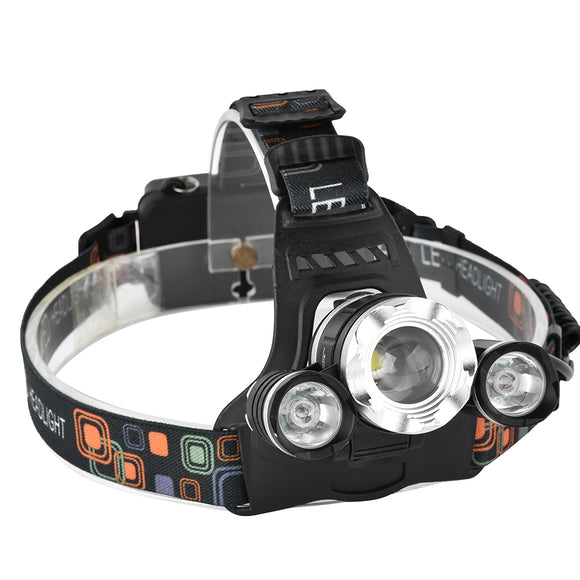 XANES 749 1200 Lumens T6+2 XPE Led Bicycle Headlight Infinite Zoom Outdoor Sports HeadLamp 4 Modes BUME