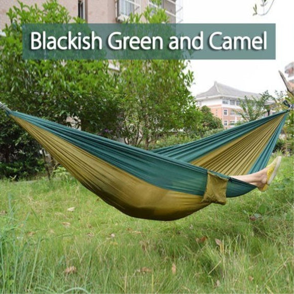 270*140cm Backpacking Hammock - Portable Nylon Parachute Outdoor Double Hammock - bumestore