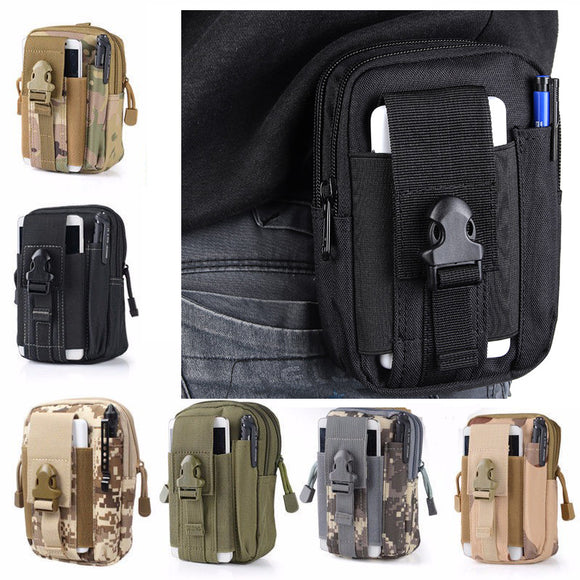 5.5 Inch Outdoor EDC Tactical Molle Waist Bag Pack Men Cell Phone Case Wallet Pouch Holder For iphone 8 Xiaomi Camping Hiking BUME