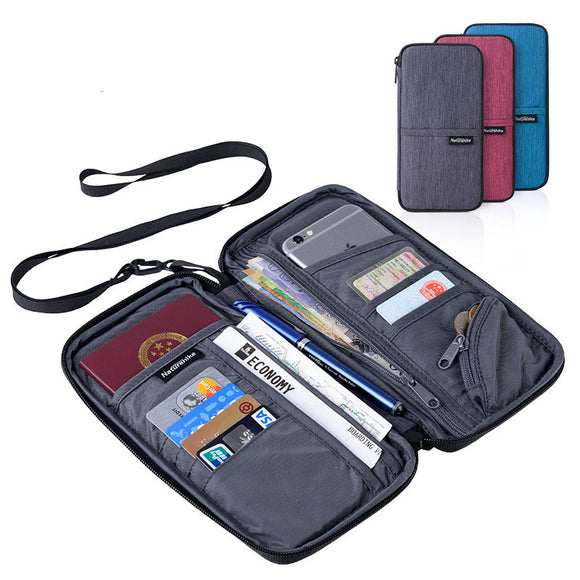 Naturehike NH17C001-B Travel Passport Card Bag Ticket Cash Wallet Pouch Holder For iphone BUME