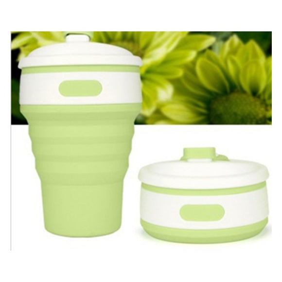 Collapsible Coffee Cup With Lid Portable and Reusable for Travel, Outdoor Sports, Camping and Hiking BUME