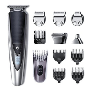 Hatteker Mens Beard Trimmer Kit Body Mustache Trimmer Hair Trimmer for Nose Ear Grooming Trimmer Kit Body Grommer for Men Waterproof Cordless USB Rechargeable All-in-One BUME