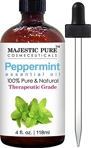 Majestic Pure Peppermint Essential Oil, Pure and Natural, Therapeutic Grade Peppermint Oil, 4 fl. oz. BUME