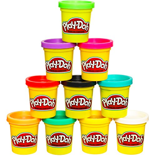 Play-Doh Modeling Compound 10-Pack Case of Colors, Non-Toxic, Assorted Colors, 2-Ounce Cans, Ages 2 and up, (Amazon Exclusive) BUME
