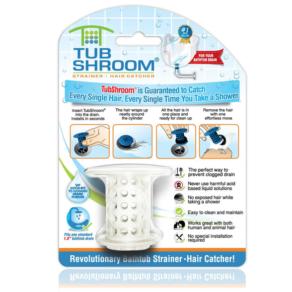 TubShroom The Revolutionary Shower Tub Drain Protector Hair Catcher/Strainer/Snare BUME
