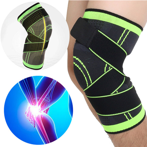 1Pcs 3D Weaving Knee Brace Breathable Sleeve Support for Running Jogging Sports BUME