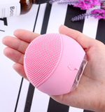 Silicone Cleansing Instrument Pore Cleaner Waterproof Ultrasonic Instrument Massager BUME