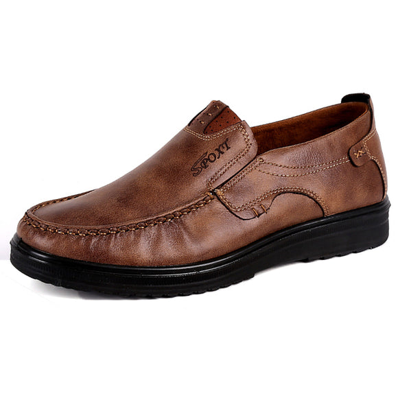 Leather Shoes Fashion Soft Oxfords BUME