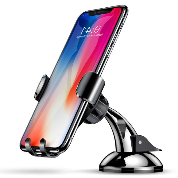Baseus Gravity Linkage Auto Lock Suction Cup Car Dashboard Phone Holder Stand for iPhone 8 X Xiaomi BUME
