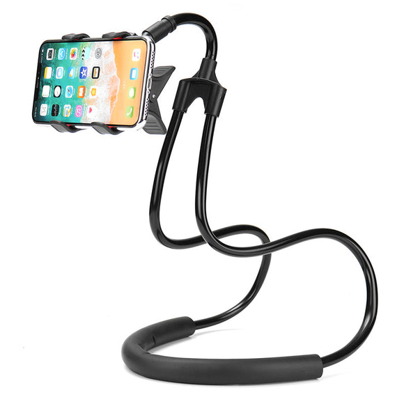 Universal Hanging Neck 360 Degree Rotation Lazy Holder Waist Stand Desktop Holder for Mobile Phone BUME