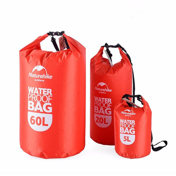 5L 20L 60L Waterproof Bags Storage Dry Sack Bag For Canoe Kayak Rafting Outdoor Sport Bag BUME