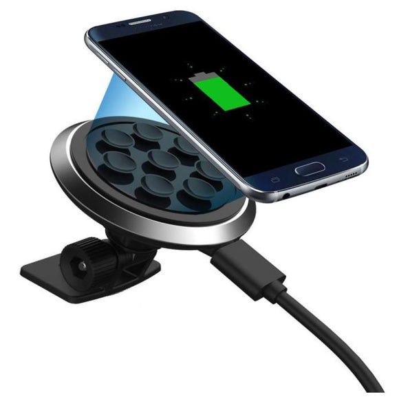 Quick Charger Qi Wireless Car Charger Transmitter Holder Fast Charging For Samsung Galaxy S8 Cell Phone BUME