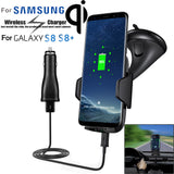 Qi  Fast Wireless Charger Car Holder Charging Quick Charger For Samsung S8/S8 plus BUME