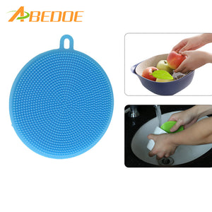 ABEDOE Silica Brush Hot Antibacterial Silicone Smart Sponge Cleaning Dish Kitchen Tool BUME