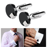 ULTNICE Pair of Men's Round French Style Cufflinks Sleeves Buttons BUME
