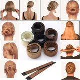 Hair Styling Bun Maker Clip Tool Hair Donut Former for Girl Ladies Magic DIY - bumestore