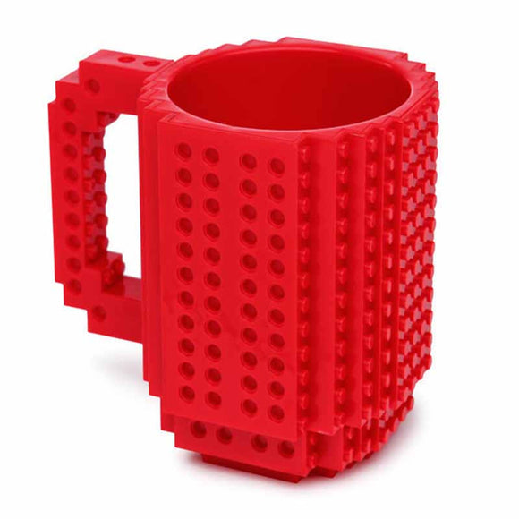 Creative DIY Build-on Brick Mug Lego Style Puzzle Mugs, Building Blocks Coffee Mug BUME
