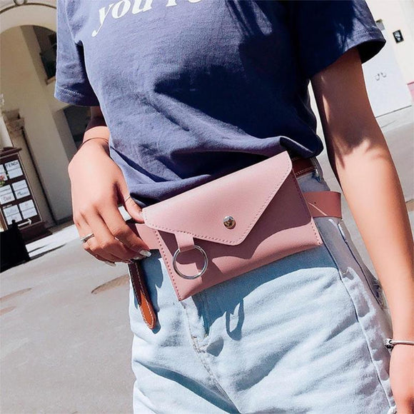Fashion New Women Waist Pack Femal Belt Bag Phone Pouch Bags Brand Design Women Envelope Bags BUME