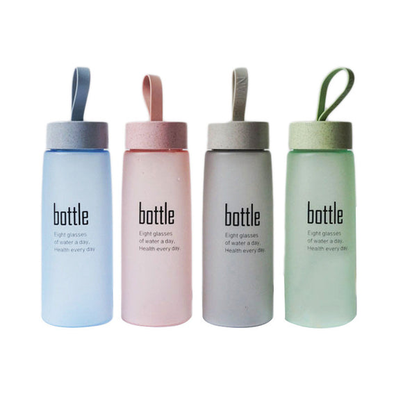 520 Ml Frosted Water Drinking Bottle Couples Creative Portable Water Bottle - bumestore