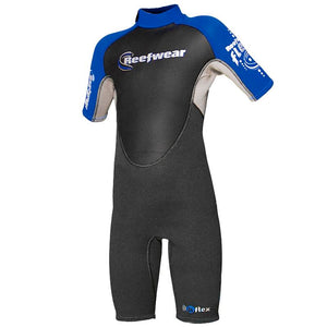 Kids Shorty Wetsuits | Reefwear | Flex 3/2mm | Blue