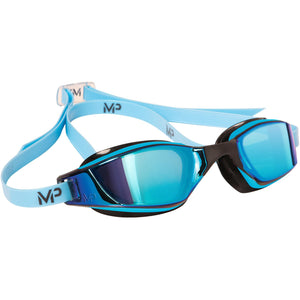 Michael Phelps MP XCEED Titanium Mirrored Swimming Goggles | Blue/Black
