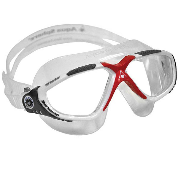 Aqua Sphere Vista Swimming Goggles | White/Red