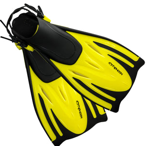 Typhoon T-Jet Snorkelling Fins | Yellow