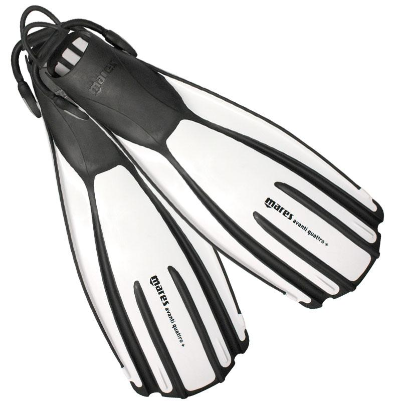 Mares Avanti Quattro Plus Scuba Diving Fins, white