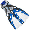 Mares X-Stream Scuba Diving Fins with Bungee Strap - Blue
