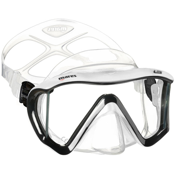 Mares i3 Mask for Scuba Diving and Snorkelling | Black/White/Clear