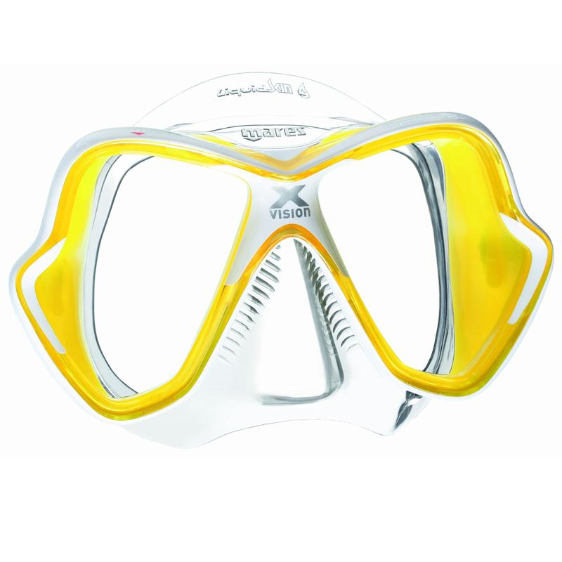 Mares X-Vision Ultra | Yellow Mask with Corrective Lenses