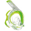 Mares Sea Vu Dry+ Snorkelling Mask, Full Face | White/Lime