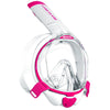 Mares Sea Vu Dry+ Snorkelling Mask, Full Face | White/Pink