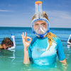 Mares Sea Vu Dry+ Snorkelling Mask, Full Face | On face