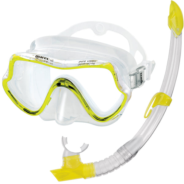 Mares Pure Vision Mask & Snorkel Set | Yellow