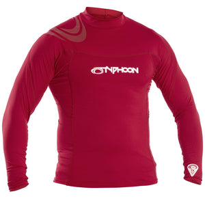 Typhoon UV50 Rash Vest Long Sleeve | Red