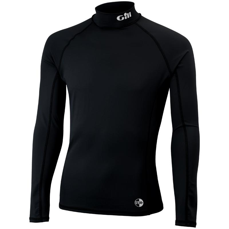 Gill UV50 Rash Vest Long Sleeve | Black